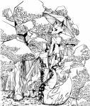 2015 canine clothing copymirror forest fox illustration japanese_clothing kimono mammal tree umbrella  Rating: Safe Score: 0 User: CopyMirror Date: August 30, 2015