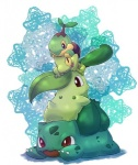 ambiguous_gender black_eyes bulbasaur chikorita group nintendo pokémon red_eyes treecko turtwig unknown_artist video_games  Rating: Safe Score: 3 User: cookiekangaroo Date: March 09, 2012