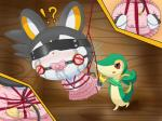 ?! ambiguous_gender bdsm blush bondage bound clothing diaper dress duo emolga emonga_(artist) female feral mammal nintendo pokémon reptile rodent scalie shy snivy squirrel tears video_games   Rating: Explicit  Score: 2  User: Cutie777  Date: September 15, 2014