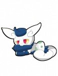 2_tails ambiguous_gender blue_hair egg fur hair meowstic multiple_tails nintendo pokémon red_eyes video_games white_fur yellow_sclera  Rating: Safe Score: 1 User: Rad_Dudesman Date: February 10, 2016