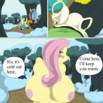 anthro anthrofied big_breasts big_penis blush bra breasts clothed clothing comic compression_artifacts dialogue discord_(mlp) draconequus english_text equine female fluttershy_(mlp) friendship_is_magic half-dressed horatio_svetlana huge_breasts huge_penis kneeling male male/female mammal my_little_pony nipples pegasus penis public_place sitting text topless underwear undressing wings  Rating: Explicit Score: 7 User: slyroon Date: September 22, 2015