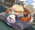 2015 all_fours anal anal_penetration arcanine bear blue_eyes blush canine chubby doggystyle duo forest from_behind japanese_text male male/male mammal nintendo outside panda pangoro penetration pokémon sex sweat text tree video_games white_monkey  Rating: Explicit Score: 3 User: Zest Date: November 29, 2015