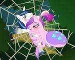2015 absurd_res arachnid arthropod badumsquish blue_hair bound cobweb cutie_mark drider duo equine female friendship_is_magic hair hi_res horn hug husband_and_wife male mammal multicolored_hair my_little_pony ponytail princess_cadance_(mlp) scared shining_armor_(mlp) spider spiders_web unicorn web   Rating: Safe  Score: 2  User: 2DUK  Date: March 10, 2015