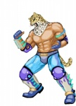 abs anthro armor biceps big_muscles boots clothed clothing feline fingerless_gloves footwear fur gloves half-dressed human jaguar king_(tekken) leopard male mammal mask muscles nipples pants pecs pose simple_background solo standing tekken toned topless unknown_artist white_background wrestler  Rating: Safe Score: 2 User: Test-Subject_217601 Date: December 29, 2011