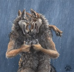 alcohol anthro beverage blotch brown_eyes canine coyote duo eyes_closed food glass happy hug male male/male mammal outside raining romantic_couple smile wetRating: SafeScore: 97User: wildmuttDate: August 03, 2009
