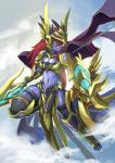 anthro armor blue_eyes canine female fur hair kemono long_hair mammal purple_fur red_hair solo unknown_artist wolf   Rating: Safe  Score: 12  User: KemonoLover96  Date: February 12, 2015