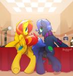 2015 anus bad_dragon balls bottle braeburned duo equine female feral horse male mammal microphone my_little_pony pegasus penis pony pussy scarf smile table wings  Rating: Explicit Score: 26 User: Numeroth Date: March 30, 2015