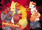 2014 black_fur blue_eyes braixen breasts canine cheek_tuft chest_tuft comic delphox doujinshi english_text female fox fur group hair kemono mammal multicolored_fur nintendo open_mouth orange_fur pokémon red_eyes red_hair text tongue tongue_out tuft two_tone_fur video_games vulpix white_fur yellow_fur zoroark zorua 瑠璃燕  Rating: Questionable Score: 6 User: GONE_FOREVER Date: July 08, 2015