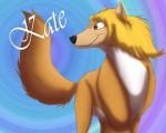 abstract_background alpha_and_omega blonde_hair brown_eyes canine female feral hair kate raised_tail smile solo unknown_artist wolf   Rating: Safe  Score: 1  User: UniversalLionsgate89  Date: January 06, 2013
