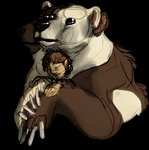 alpha_channel brown_bear conjoined cuddling derangedleech duo feral grizzly_bear hug human male mammal multi_ear multi_eye multi_face multi_head multi_snout polar_bear ursid ursine