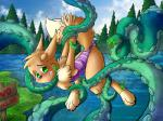4_toes anthro black_nose blush bound brunn-bear chest_tuft claws clothing eevee fluffy fluffy_tail green_eyes hands_behind_back imminent_rape lake looking_back nintendo pine_trees pokémon pokémon_(species) raised_tail sign slime swimsuit tentacles toes tree tuft video_games worriedRating: ExplicitScore: 8User: H202Date: November 15, 2017