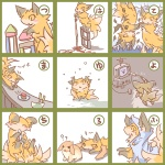"""? ambiguous_gender canine cute duo feral fox japanese_text kolshica lagomorph mammal pasta rabbit spaghetti text translated  Rating: Safe Score: 1 User: msc Date: August 16, 2009"""""""