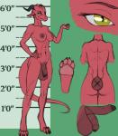 2015 abs anthro areola arm_up balls breasts dickgirl dragon hairless hi_res hindpaw horn humanoid_penis intersex ldr lips model_sheet muscles muscular_intersex nipples nude paws penis red_skin scalie solo standing the_surgeon uncut yellow_eyes   Rating: Explicit  Score: 8  User: ldr  Date: March 12, 2015