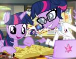 2016 batman_(series) book bubbles_(powerpuff_girls) computer duo equestria_girls equine eyewear fairly_oddparents feathered_wings feathers female feral friendship_is_magic glasses harley_quinn horn human lab_coat laptop mammal my_little_pony nickelodeon pixelkitties powerpuff_girls raven_(teen_titans) teen_titans timmy_turner twilight_sparkle_(eg) twilight_sparkle_(mlp) winged_unicorn wings  Rating: Safe Score: 3 User: 2DUK Date: March 26, 2016