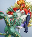 2016 anthro anus areola armpits big_breasts breasts butt cunnilingus duo erect_nipples female female/female ho-oh legendary_pokémon nintendo nipples non-mammal_breasts nude oral plump_labia pokémon pussy pussy_juice rayquaza sex suddenhack vaginal video_gamesRating: ExplicitScore: 31User: voldosbtDate: November 20, 2016