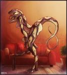 anthro bent_over breasts digital_media_(artwork) eye_contact female grin hand_behind_head hand_on_knee happy inside leaning_on_knee living_room lolzguy looking_at_viewer nipples nude pinup pose presenting raised_arm reptile scalie side_boob smile snake sofa solo standing step_pose table tongue tongue_out  Rating: Questionable Score: 47 User: 6c6f6c7a Date: November 15, 2015
