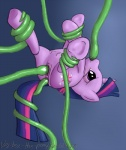 2013 anal anal_penetration bound butt cutie_mark equine female feral friendship_is_magic hair horn mammal multi-colored_hair my_little_pony oral penetration plain_background purple_eyes pussy saliva signature solo teats tentacles triple_penetration twilight_sparkle_(mlp) unicorn vaginal vaginal_penetration vertex   Rating: Explicit  Score: 8  User: Rhyrs  Date: March 19, 2013