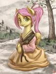 2015 absurd_res clothing equine feathered_wings feathers female feral fluttershy_(mlp) friendship_is_magic fur grass green_eyes hair hi_res landscape looking_at_viewer mammal mrs1989 my_little_pony outside pegasus pink_hair road smile solo tree wings yellow_feathers yellow_fur  Rating: Safe Score: 10 User: ConsciousDonkey Date: February 01, 2016