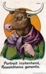 bovine cattle female french_text horn mammal scarf solo text vintage  Rating: Safe Score: 1 User: tartcore Date: August 30, 2015