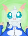 alpacapala amaura ambiguous_gender blue_eyes cute duo first_person_view human male mammal nintendo open_mouth pokémon pokémon_trainer shiny_pokémon video_games  Rating: Safe Score: 1 User: DeltaFlame Date: April 19, 2015