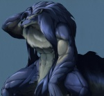 2011 abs anthro biceps blue_fur blue_hair canine chest_fur convenient_censorship duga fur grin hair long_hair male mammal mane manly muscular muscular_male naturally_censored nude ratsushi shining_(series) shining_force shining_force_exa simple_background sitting smile solo sourou_cerulean_wolf tasteful_nudity video_games white_fur wolf yellow_eyes  Rating: Questionable Score: 9 User: PhilosophicalMind Date: December 17, 2015