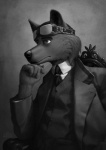 2015 anthro canine chair clothed clothing dog eyewear goggles looking_away male mammal monochrome necktie shirt simple_background sitting solo stucat suit victorian  Rating: Safe Score: 5 User: hslugs Date: April 08, 2016