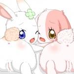 anthro anus chima close-up clover cub cum cum_inside cute duo eyelashes female fur happy_happy_clover japanese lagomorph long_ears looking_at_viewer looking_back lop_eared_bunny makuran mallow mammal meru one_eye_closed orange_fur pixiv presenting pussy rabbit sayuri_tatsuyama short_fur tears wink young  Rating: Explicit Score: 6 User: CloverTheRabbit Date: December 27, 2014