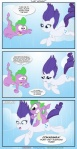 comic czudakx dialog dragon english_text equine eyeshadow falling female feral friendship_is_magic fur horn horse humor makeup male my_little_pony pony rarity_(mlp) scalie spike_(mlp) text unicorn white_fur   Rating: Safe  Score: 9  User: Kholchev  Date: October 17, 2012