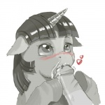 <3 bestiality blush cum cum_in_mouth cum_inside cute disembodied_penis duo equine fellatio female feral friendship_is_magic horn human interspecies kevinsano male male/female mammal monochrome my_little_pony oral penis sex sucking twilight_sparkle_(mlp) unicorn   Rating: Explicit  Score: 14  User: Kitsu~  Date: September 01, 2011