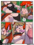 avian bestiality blaziken breast_grab breasts brown_hair butt clothed clothing clothing_lift comic dialogue duo english_text eyes_closed female female_on_feral feral french_kissing grass hair hand_on_breast hi_res human human_on_feral interspecies kissing licking lying male male/female mammal may_(pokémon) missionary_position nintendo nipples on_back open_mouth outside penetration penis pokémon poképhilia pussy rainbow-flyer raised_shirt saliva sex shirt shirt_lift sound_effects text tongue tongue_out vaginal vaginal_penetration video_games  Rating: Explicit Score: 26 User: Hatler Date: March 31, 2016