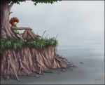 2014 amphibian bikini_top brown_fur clothing female flower frog fur grass hair jay_naylor mammal mustelid otter outside reclining red_(jay_naylor) red_hair rocks roots shorts sitting solo tree water   Rating: Safe  Score: 13  User: Noah_Black  Date: February 27, 2014