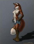 """anthro balls breasts canine clothed clothing dickgirl fox fully_sheathed half-dressed intersex mammal nipples nude richard_foley sheath solo standing topless  Rating: Explicit Score: 7 User: KarenC Date: August 20, 2009"""""""