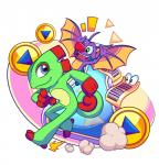 2015 ambiguous_gender animate_inanimate anthro bat bat_wings blue_eyes chameleon crankyconstruct duo_focus fangs featureless_crotch green_eyes group hi_res laylee lizard mammal membranous_wings nude open_mouth open_smile reptile scalie simple_background smile white_background wings yooka yooka-layleeRating: SafeScore: 4User: JAKXXX3Date: June 25, 2017