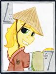 braeburn_(mlp) card cardstock clubs ear_piercing equine friendship_is_magic hair horse japanese_clothing kimono mammal my_little_pony piercing playing_card pony seven smile solo straw_hat the1king   Rating: Safe  Score: 0  User: The1King  Date: January 23, 2014