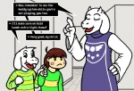 2015 asriel_dreemurr black_sclera brown_hair caprine chara_(undertale) clothing english_text female fur goat hair hand_holding horn human long_ears mammal monster mother mother_and_son parent quetzadrake robe son text tongue toriel undertale white_fur  Rating: Safe Score: 4 User: SpectralDreams Date: October 06, 2015