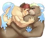 after_sex anthro ashigara bear blush cuddling cum gunzou human human_on_anthro interspecies isuckusuck male male/male mammal mohawk slime sweat tokyo_afterschool_summonersRating: ExplicitScore: 2User: arliDate: July 22, 2017
