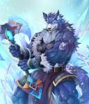 2016 action_pose angry anthro armband armor axe belt biceps big_muscles blue_eyes blue_fur canine chest_tuft clothed clothing cold digital_media_(artwork) fangs fur holding_object holding_weapon ice loincloth looking_at_viewer magic male mammal melee_weapon muscular open_mouth pecs shirt smile snow standing tattoo tengo topless tuft unconvincing_armor warrior weapon wolf  Rating: Safe Score: 4 User: Vanzilen Date: April 05, 2016
