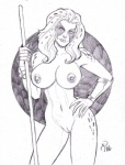 areola big_breasts breasts cheetah cheetara erect_nipples feline female hair humanoid mammal michael_powell monochrome navel nipples nude polearm pussy solo staff thundercats weapon   Rating: Explicit  Score: 1  User: Robinebra  Date: October 14, 2012