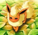ambiguous_gender blush canine cerasus chest_tuft eeveelution flareon fur leaves mammal nintendo pokémon solo tuft video_games   Rating: Safe  Score: 4  User: AnacondaRifle  Date: March 07, 2014