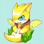 ambiguous_gender blue_eyes blush feral huiro lemon looking_at_viewer puzzle_&_dragons solo video_games yellow_sky_fruit_lemon_dragon  Rating: Safe Score: 8 User: slyroon Date: September 15, 2014