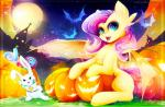 absurd_res angel_(mlp) bat bat_pony bunny_ear candy cosplay crossover dark_souls equine fangs female feral flutterbat_(mlp) fluttershy_(mlp) food friendship_is_magic halloween hi_res holidays hybrid jack_o'_lantern koveliana lagomorph lollipop male mammal moon my_little_pony night pegasus pumpkin rabbit solaire_of_astora video_games wings  Rating: Safe Score: 17 User: Burgerpants Date: October 29, 2015