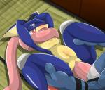 """amphibian blush duo female feral frog greninja male male/female mammal nintendo penetration pokémon pussy red_eyes sex sweat tongue toxicroak type vaginal vaginal_penetration video_games  Rating: Explicit Score: 9 User: voldosbt Date: May 15, 2015"""""""