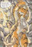 2016 anthro areola armpits arms_above_head big_breasts breast_grab breasts cave clothing daigaijin dialogue duo english_text erect_nipples eyes_closed feline female female/female fingering fingerless_gloves gloves hand_on_breast hi_res kung_fu_panda mammal mask master_tigress nipples nude restrained slit_pupils text tiger unconscious vaginal vaginal_fingering yellow_eyes  Rating: Explicit Score: 29 User: Robinebra Date: April 03, 2016