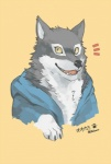 beau bust canine clothing kemono looking_at_viewer male shirokuma_cafe solo wolf   Rating: Safe  Score: 12  User: Boku_no_Furfag  Date: November 22, 2013