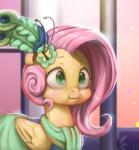 2015 absurd_res blush clothing dress equine female feral fluttershy_(mlp) friendship_is_magic hair hi_res inside long_hair mammal mrs1989 my_little_pony pegasus pink_hair solo wings   Rating: Safe  Score: 30  User: lemongrab  Date: May 17, 2015
