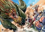 ... ambiguous_gender armor blue_eyes capcom cat deviljho diablos feline feral group human japanese_text mammal monster_hunter open_mouth ryuta saliva size_difference tears text video_games   Rating: Safe  Score: 2  User: chdgs  Date: February 10, 2015