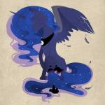 2014 blue_fur blue_hair cutie_mark equine evehly feather female friendship_is_magic fur hair horn long_hair mammal my_little_pony plain_background princess_luna_(mlp) solo winged_unicorn wings   Rating: Safe  Score: 9  User: Nyteshade  Date: April 21, 2014