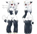 anthro black_fur bovine butt canine cattle chipar cub cute female fur hair hooves hybrid kemono loli mammal model_sheet navel nude red_eyes solo white_fur white_hair wolf young  Rating: Safe Score: 6 User: slyroon Date: October 10, 2015