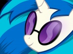 blue_hair equine eyewear female friendship_is_magic fur glasses hair horn mammal my_little_pony smile solo two_tone_hair unicorn vinyl_scratch_(mlp) white_fur   Rating: Safe  Score: 4  User: Rain34  Date: March 31, 2014