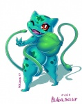 2017 <3 anthro bulbasaur butt claws english_text fangs female flora_fauna looking_at_viewer looking_back markings nintendo one_eye_closed open_mouth plant pokémon rear_view red_eyes simple_background solo teeth text toe_claws tongue v_sign vicioustyrant video_games vines white_background winkRating: QuestionableScore: 8User: cinnamon365Date: July 16, 2017